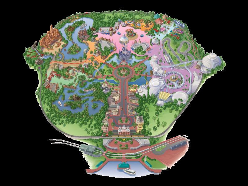 マジックキングダム・パーク マップ